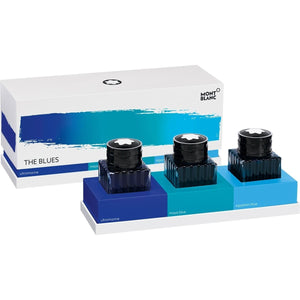 mehrfarbig9225 Montblanc, The Blues, Palette Set, 3 x 30 ml Tintenfässer, Blau