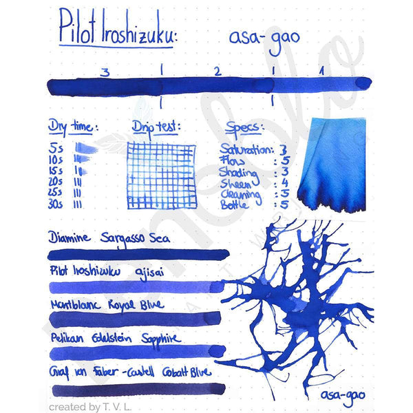 Pilot, Tintenglas, Iroshizuku 50 ml, Asa-Gao Morning Glory-2