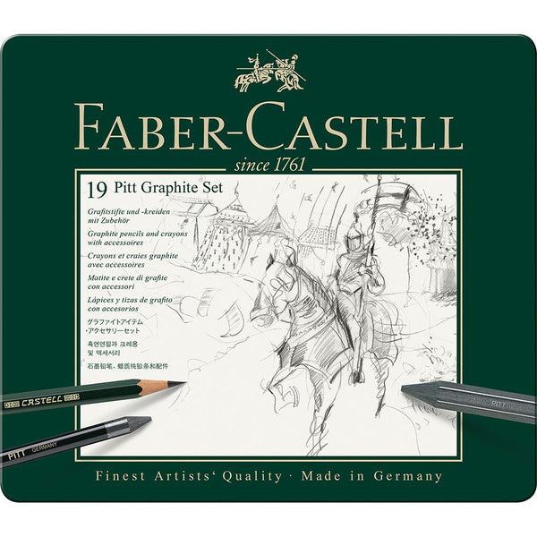 Faber-Castell, Stifte, Set, Pitt Graphite medium Metalletui-2