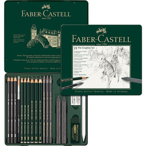 mehrfarbig4992 Faber-Castell, Stifte, Set, Pitt Graphite medium Metalletui
