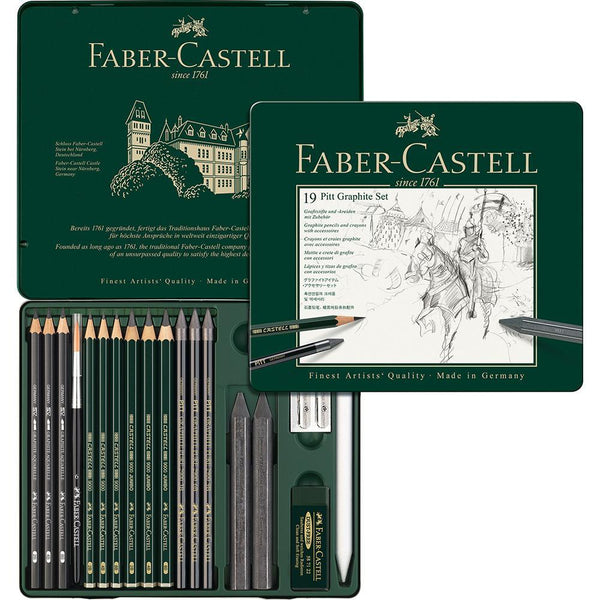 Faber-Castell, Stifte, Set, Pitt Graphite medium Metalletui-1