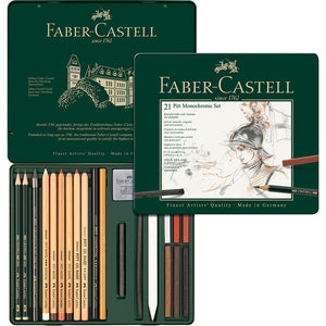 mehrfarbig4998 Faber-Castell, Stifte, Set, Pitt Monochrome medium Metalletui
