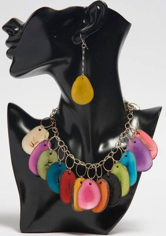 Tagua Nut Slice Earrings