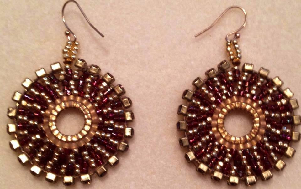 Boho Earrings- Swarovski crystal edging - jody dove style  - 1