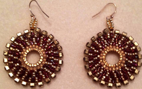 Boho Earrings- Swarovski crystal edging