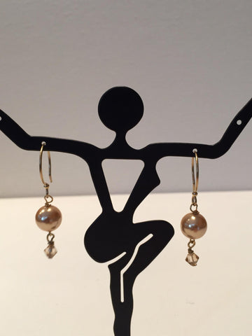Pearl and Crystal Dangles