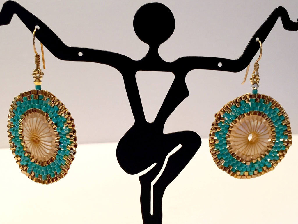 Boho Earrings- glamourous - jody dove style  - 1