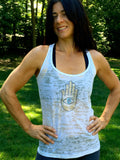 THE HAND AND...burnout racerback tank tops - jody dove style  - 2