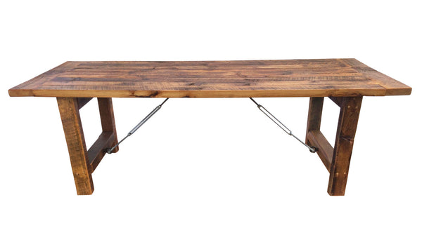 Turnbuckle Harvest Table Sustain Furniture Co