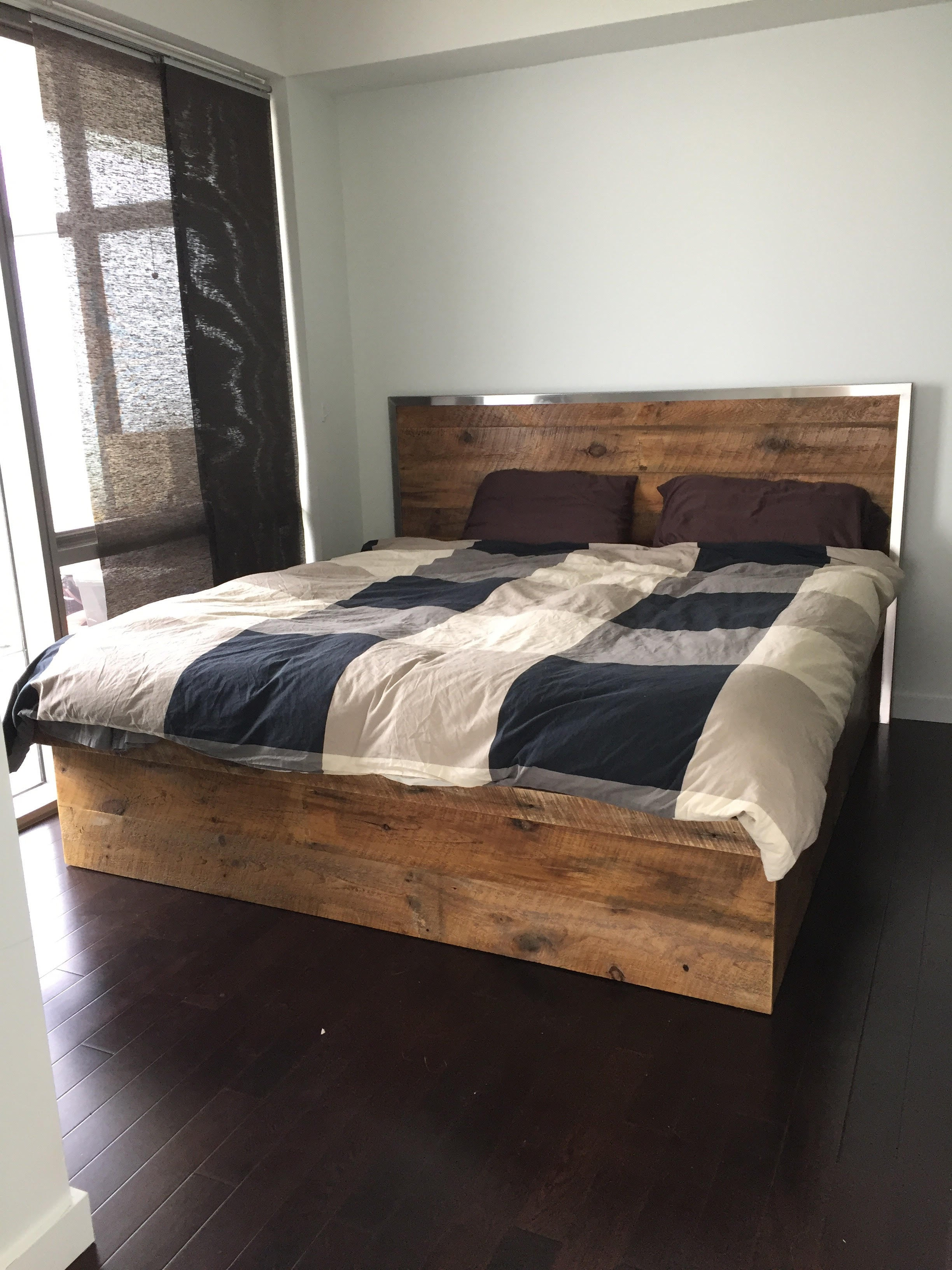 ... Reclaimed wood lift storage bed ... & Sustain Furniture Co.