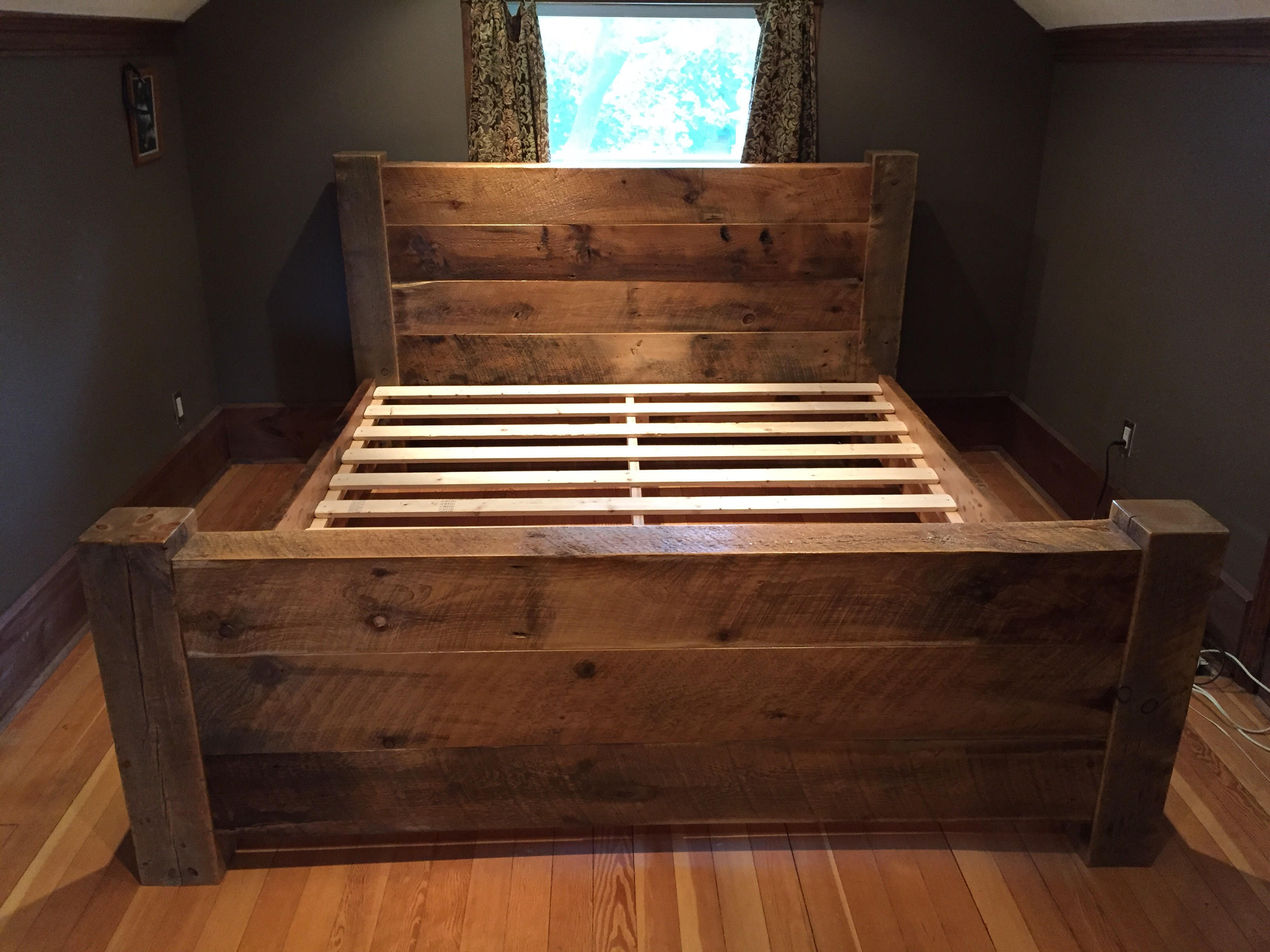 Chandos Reclaimed Barn Wood and Beam Platform Bed - Sustain ...