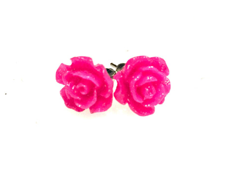 Earrings flower, flower earrings, earrings flowers, rose studs, gift for her, bridemaids gift, stud , rose earrings, boho romantic stud