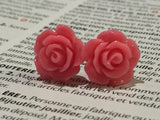 Earrings flower, flower earrings, earrings flowers, rose studs, gift for her, bridemaids gift, stud, rose earrings, boho romantic stud