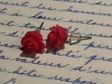 Earrings flower, flower earrings, earrings flowers, rose studs, gift for her, bridemaids gift, stud, rose earrings, boho romantic stud - Petit Luxe Shop
