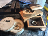 Miniature jewelry box, ideal as a gift for women, wooden box - Petit Luxe Shop