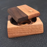Miniature jewelry box, ideal as a gift for women, wooden box