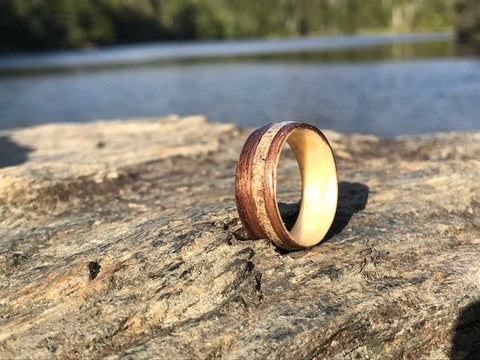 Exotic Wood Ring, Exotic Wood Jewelry, Wood Weeding Ring, Unique Wedding Ring Women, Unisex Ring, Wood Ring Men, Wood Ring Men Wedding