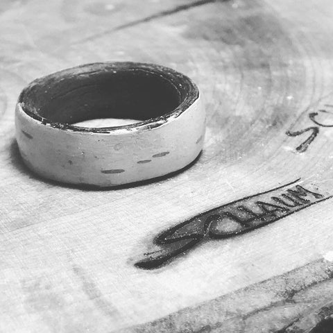 White Birch Wood Ring, Exotic Wood Jewelry, Wood Weeding Ring, Unique Wedding Ring Women, Unisex Ring, Wood Ring Men, Wood Ring Men Wedding
