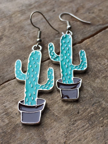 Cactus earrings - Petit Luxe Boutique