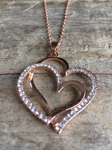 Corazon, collier coeur, double amour, double coeur, mere enfant, lovely look