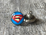 S   Super heros boucles d'oreilles S earrings - Petit Luxe Boutique