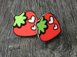 Boucles d'oreilles Fraise, fruit earrings, strawberry earring
