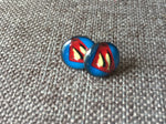 Super hero S earrings