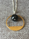 Mininalist necklace, abstract necklace, geometric circle necklace