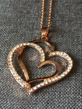 Corazon, heart necklace, double love, double heart, mother child, lovely look