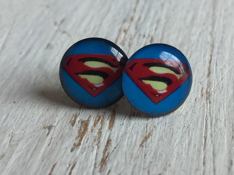 Boucles d'oreilles S earrings  super heros