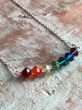 It's going to be fine Swarovski crystals chakras crystal Necklace