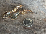Champagne crystal chic earrings