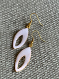 Chic white and gold earrings