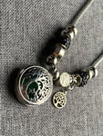 Silver tree of life charm necklace diffuser jewelry