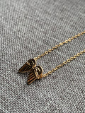 Gold Metal Alloy Angel Wing Charm Necklace