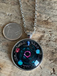 Silver metal alloy astrology charm necklace