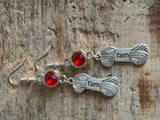 Yam couture silver ball charm earrings