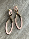 Chic rose gold and metal alloy earrings