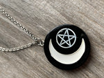Moon necklace witchcraft moon star witch necklace black moon star necklace