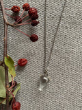 Collier pendulum cristal clair necklace pendulum clear