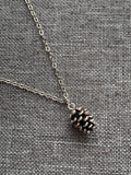 Casserole of bread charm necklace metal alloy silver