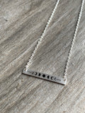 Stainless steel moon charm necklace