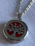 Stainless steel tree of life charm necklace aromatherapy diffuser jewelry