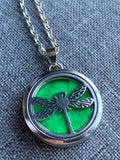 Dragonfly aromatherapy necklace dragon fly essential oil necklace