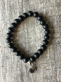 Black heart bracelet - Petit Luxe Shop
