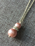 Pink pearl necklace - Petit Luxe Shop