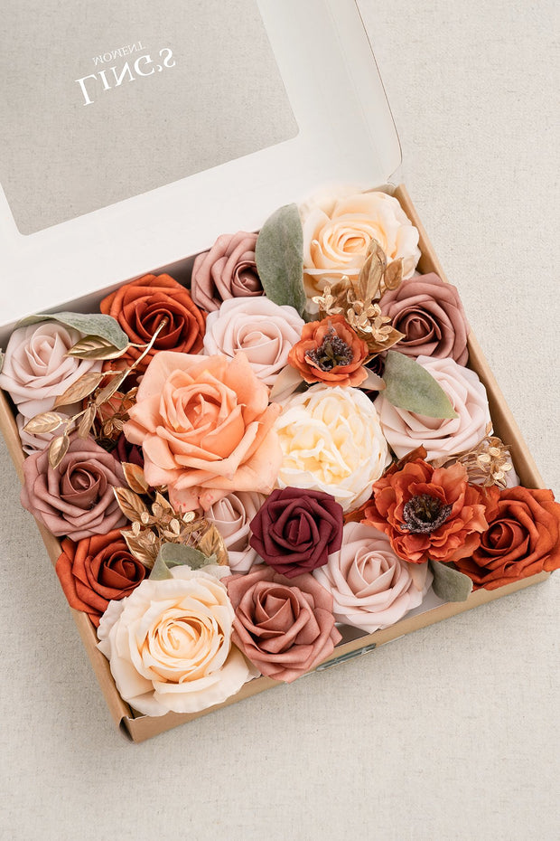Flowers Box Sets for DIY - Mariage Terracotta Theme
