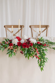 Flower Swag and Tablecloth for Sweetheart/Head Table - Whimsical Christmas