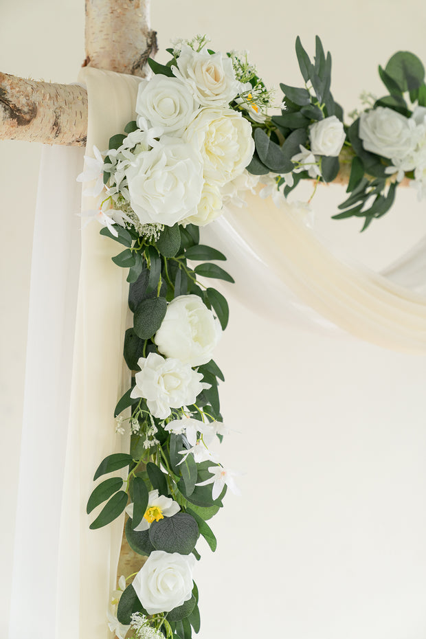 Arch Flower Garland 6.5FT (Set of 2) - White