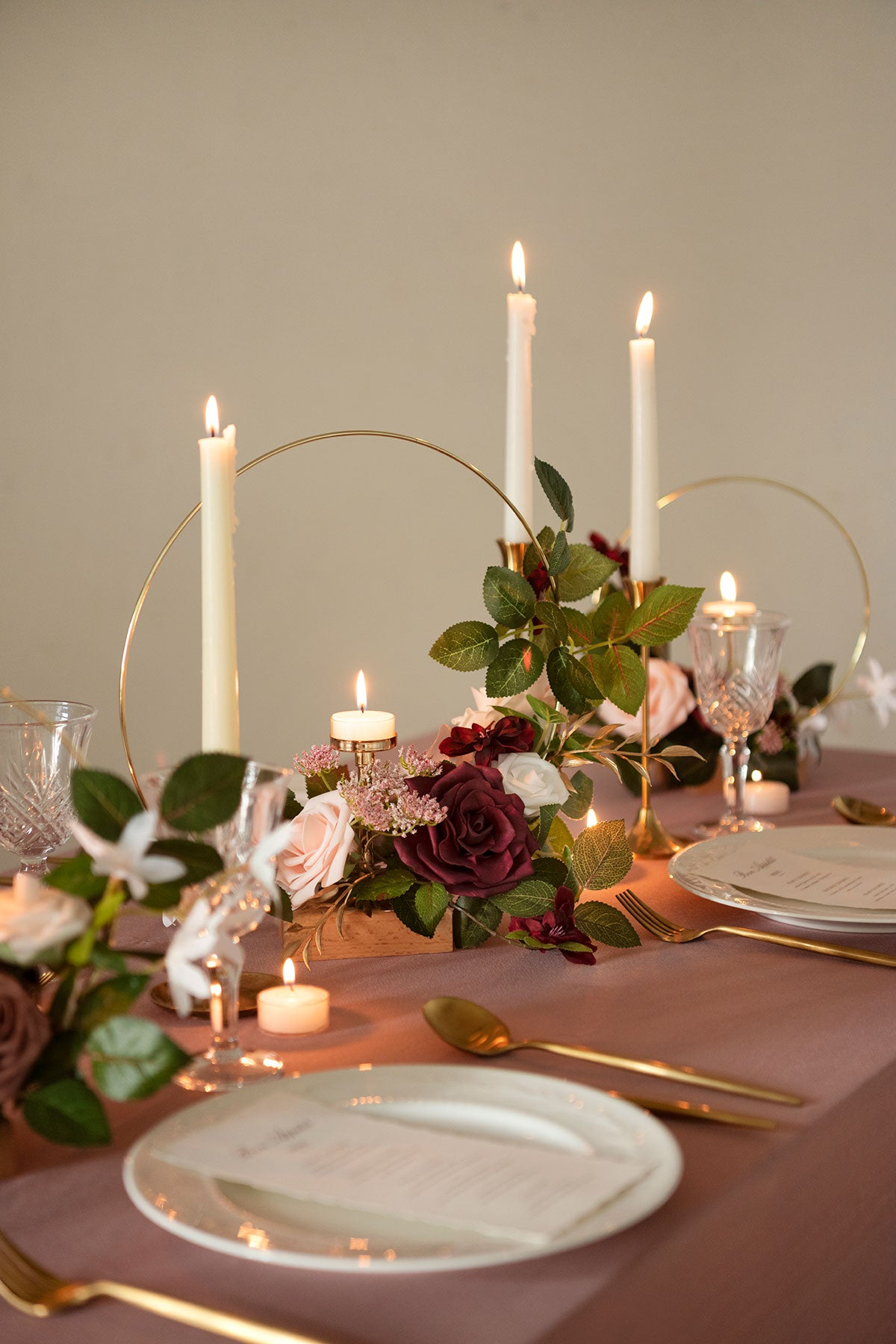 DIY Centerpiece Kits with Candle Holder (Set of 3)
